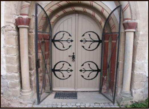 Church door after the restoration